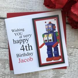 Handmade Birthday Card 'Robot'