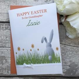 """Handmade Easter Card """"White Bunny"""""""