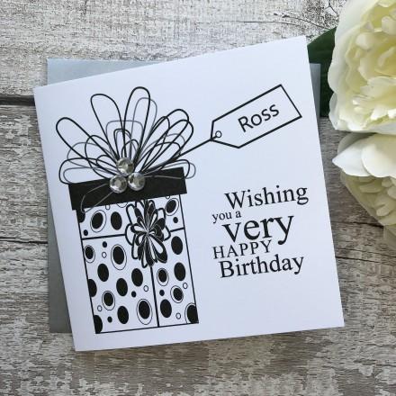 Handmade Birthday Card 'Gift Box'