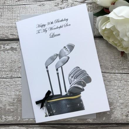 Personalised Handmade Birthday Card 'Golf'