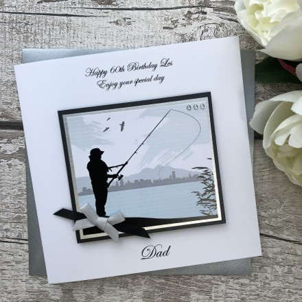Handmade Birthday Card 'Fishing'