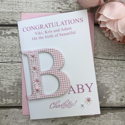 Handmade New Baby Card 'B'
