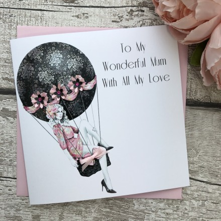 Handmade Mother's Day Card (Hot Air Balloon)