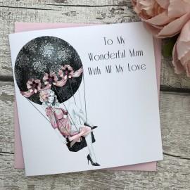 Handmade Mother's Day Card (Hot Air Balloon)
