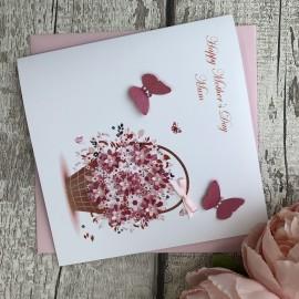 "Handmade Mother's Day Card ""Floral Basket"""