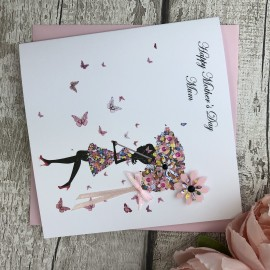 """Handmade Mother's Day Card """"Floral Umbrella"""""""