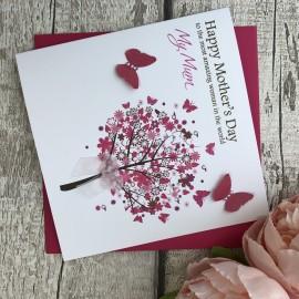 "Handmade Mother's Day Card ""Flower Tree"""