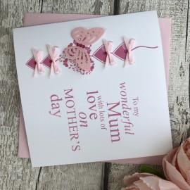 "Handmade Mother's Day Card ""Heart Chain"""