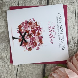 """Handmade Mother's Day Card """"Floral Tree"""""""