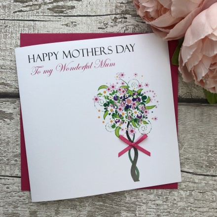 "Handmade Mother's Day Card ""Jeweled Tree"""