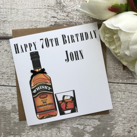 Handmade Birthday Card 'Whisky'