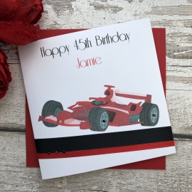 Handmade Birthday Card 'F1 Racing Car'