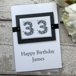 Luxury Handmade Birthday Card 'Floral Numbers'