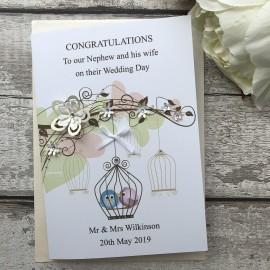 Handmade Wedding Card 'Bird Cage'