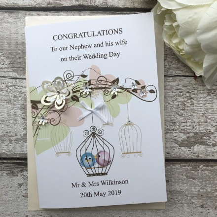 Handmade Wedding Card 'Bird Cage'