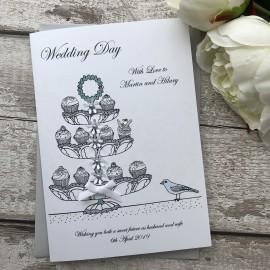 Handmade Wedding Card 'Cup Cakes'