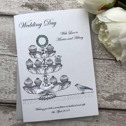 Handmade Wedding Card 'Cup Cakes'