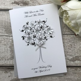 Handmade Personalised Wedding Card 'Love Bird'
