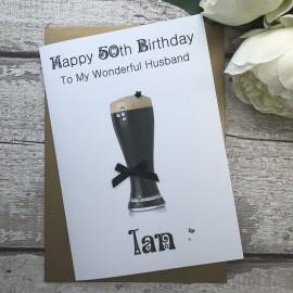 Handmade Birthday Card 'Guinness'
