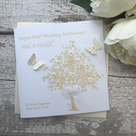 Handmade Pearl Wedding Anniversary Card