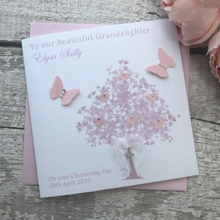 Handmade Christening Card 'Tree'