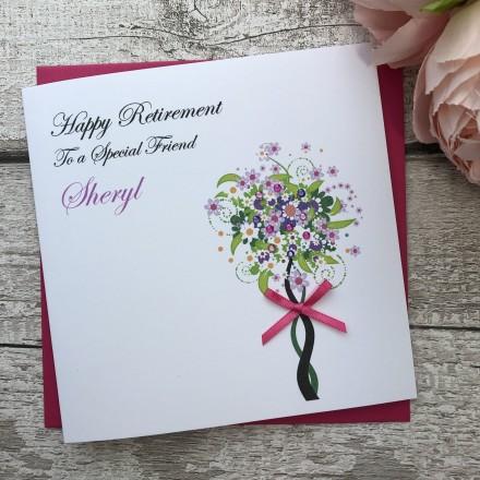 Personalised Handmade Retirement Card