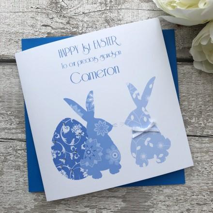 "Handmade Easter Card ""Easter Bunnies"""