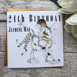 Handmade Birthday Card 'Fairy'