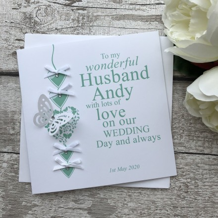 Handmade Wedding Card 'Bride to Groom'