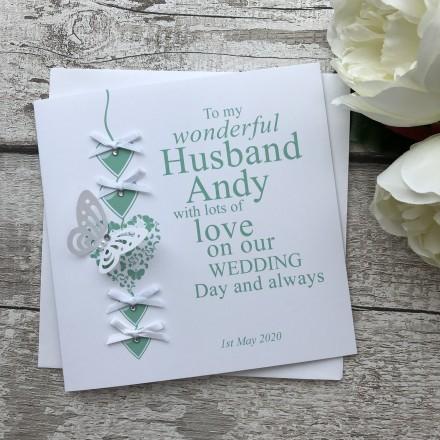 Handmade Wedding Card 'Bride to Groom'