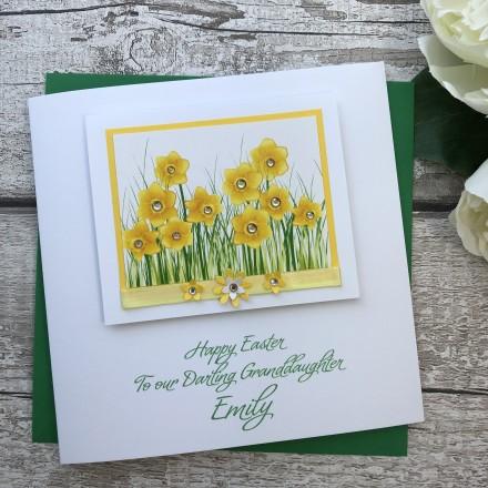 """Handmade Easter Card """"Daffodils"""""""