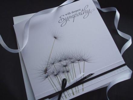 Handmade Sympathy Card Dandelion