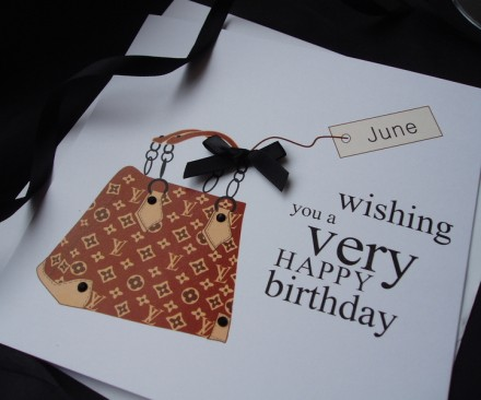 Designer Bag Birthday Card