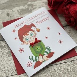 Handmade Christmas Card 'Elf'