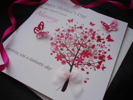 "Handmade Mother's Day Card ""Flower Tree"""