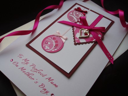 "Luxury Mother's Day Card ""Heart Bauble"""