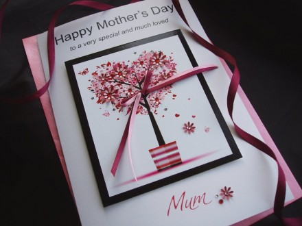 "Luxury Mother's Day Card ""Floral Pot Tree"""