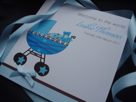 Cute New Baby Pram Card