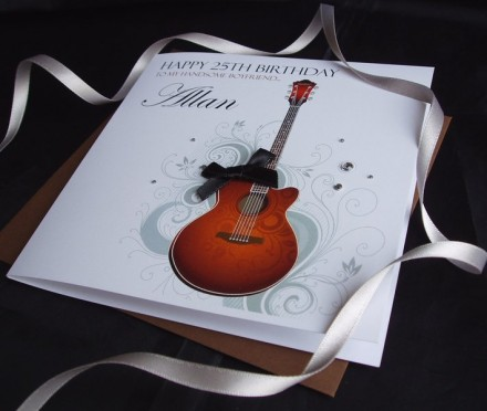 Birthday Spanish Guitar Card