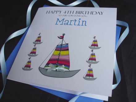 Sailing Boats Birthday Card