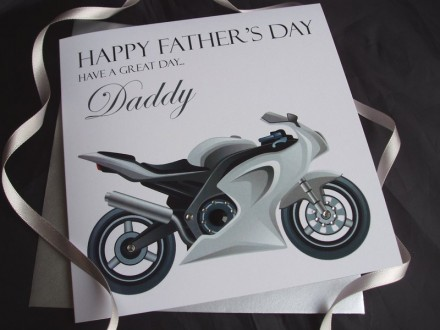 Father's Day Motor Bike Card