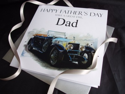 Father's Day Vintage Rolls Royce Card