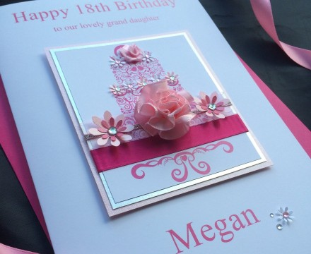 Luxury Birthday Cake Card