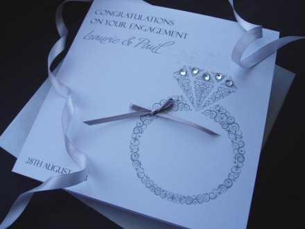 Handmade Engagement Card Ring