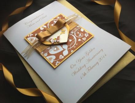 Luxury Golden Wedding Anniversary Card