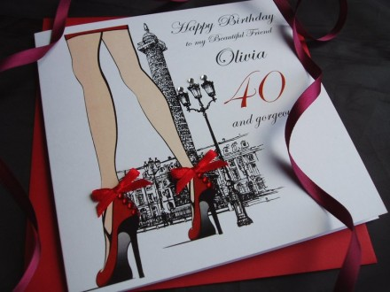 Sexy Legs with Red Shoes Birthday Card