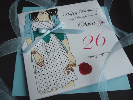Polka Dot Dress Birthday Card
