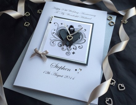 Stylized Heart Wedding Anniversary Card