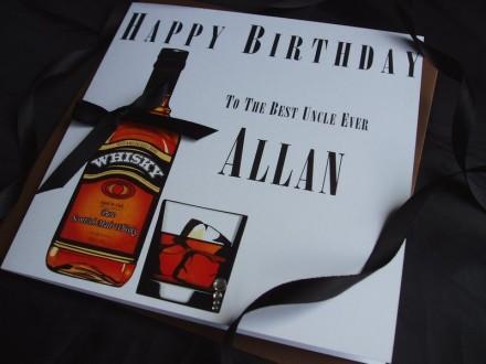 Birthday Whisky Card