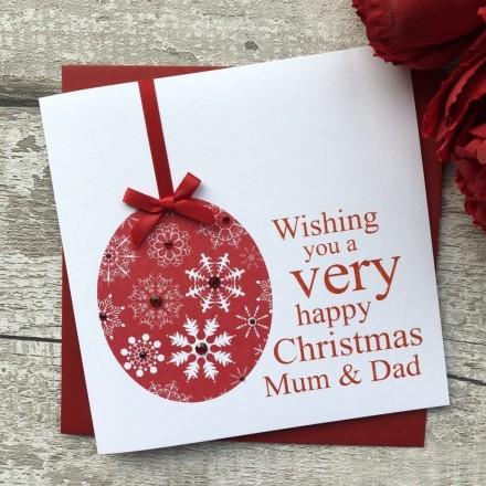 Handmade Christmas Card 'Bauble'